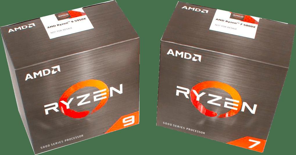 изображение новых процессоров amd box ryzen 7 и ryzen 9