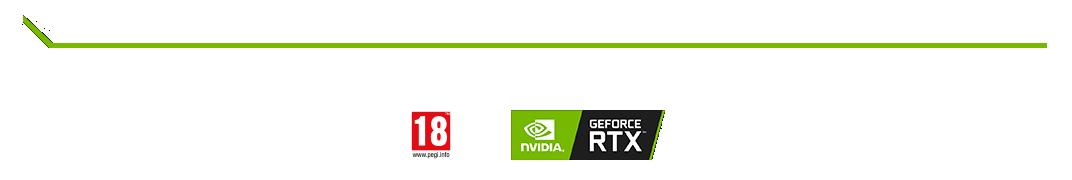 логотип Nvidia Geforce RTX в игровых приложениях